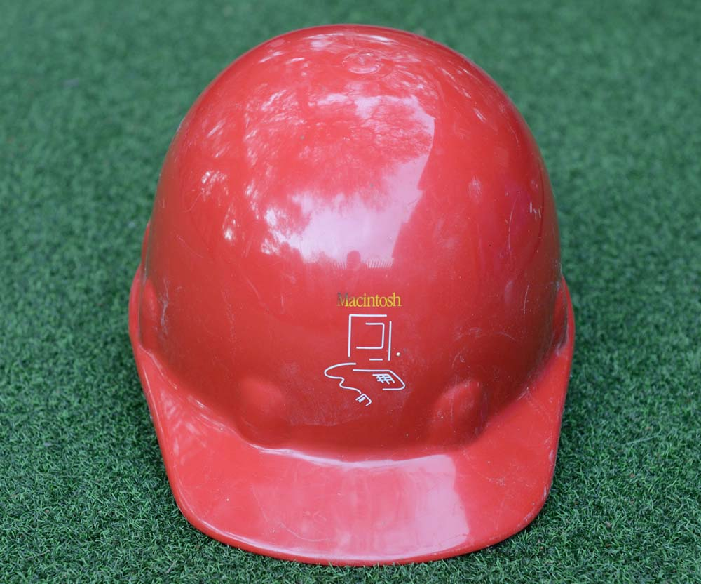Photograph of Apple Macintosh Fremont Factory Helmet with Logo