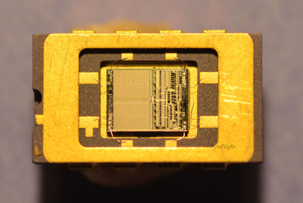 Photograph of chip in package of the Apple Clock Chip