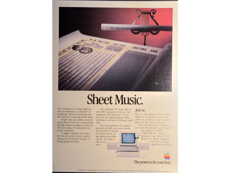 Apple Sound Chip (ASC) marketing collateral advertisement Sheet Music